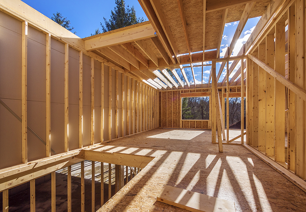 Fabrication de murs à ossatures bois